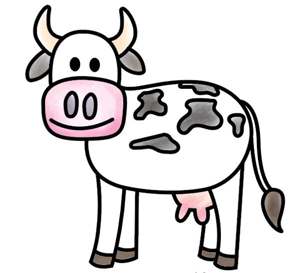 kako nacrtati kravu 10