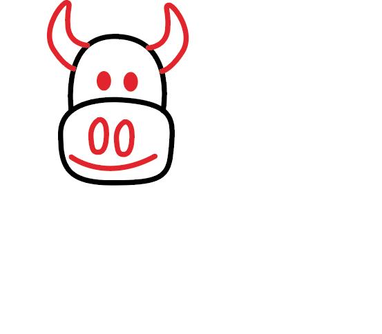 kako nacrtati kravu 3
