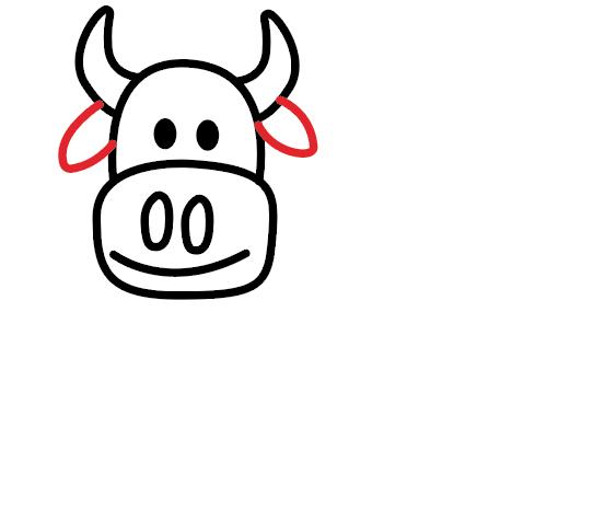 kako nacrtati kravu 4
