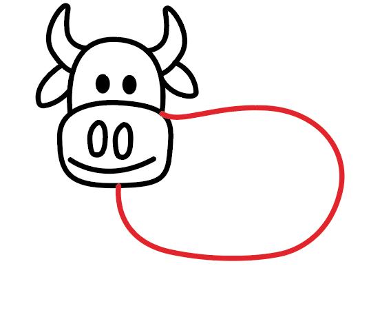 kako nacrtati kravu 5