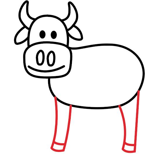 kako nacrtati kravu 6