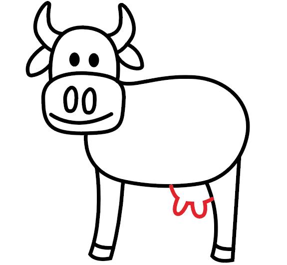 kako nacrtati kravu 7