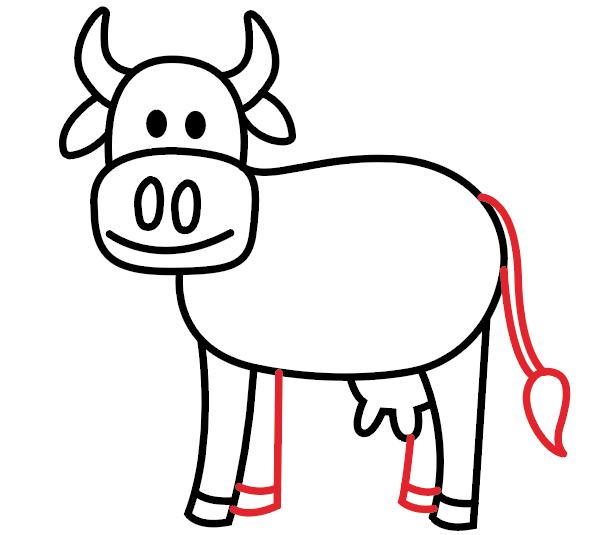 kako nacrtati kravu 8